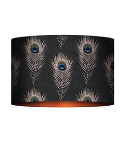 MIND THE GAP Peacock Feathers Table/Floor Lamp Shade
