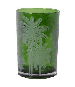 Large Green Palm T-Light Holder
