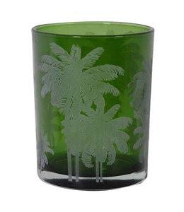 Small Green Palm T-Light Holder