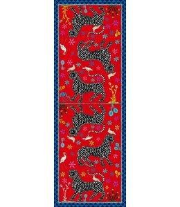 Ortigia Scarf Ocelot Rosso