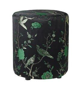 Oriental Jacquard Green Footstool
