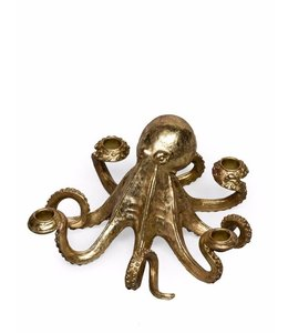 M&R Gold Octopus Candle Stick Holder