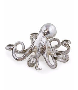 M&R Silver Octopus Candle Stick