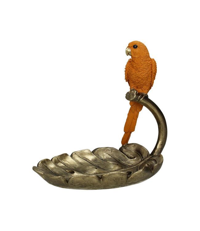 Libra Carnaby Orange Parrot Trinket Dish