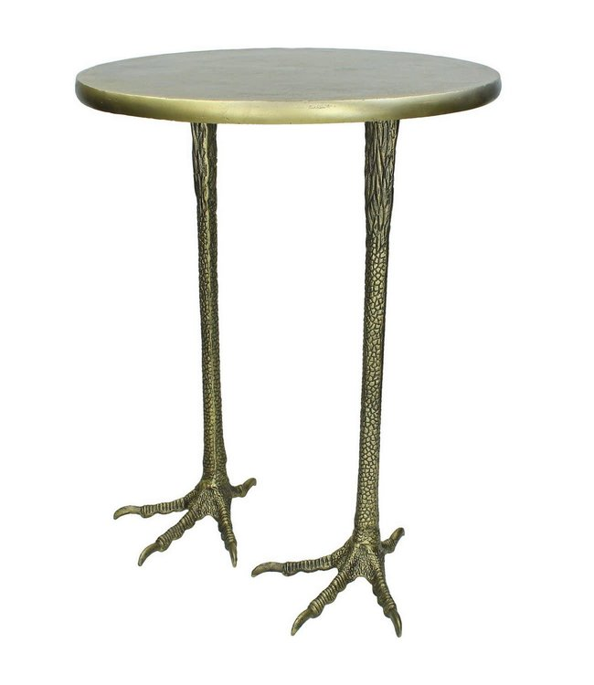 Crane Foot Table - Antique Brass finish