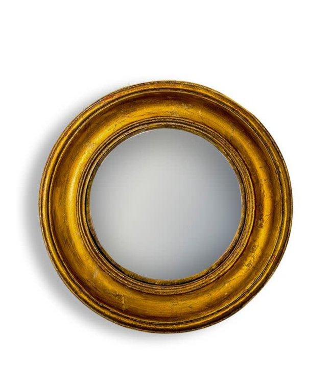 M&R Gold Deep Framed Large Convex Mirror