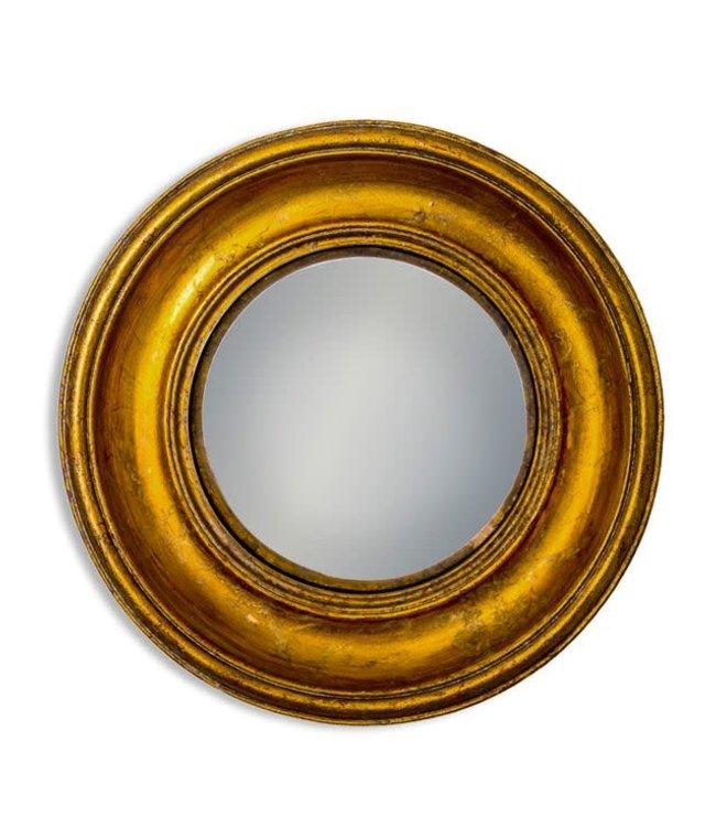 M&R Gold Deep Framed Medium Convex Mirror