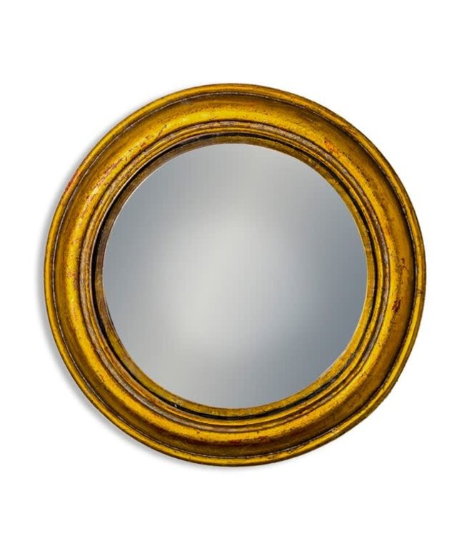 M&R Gold Rounded Framed Medium Convex Mirror