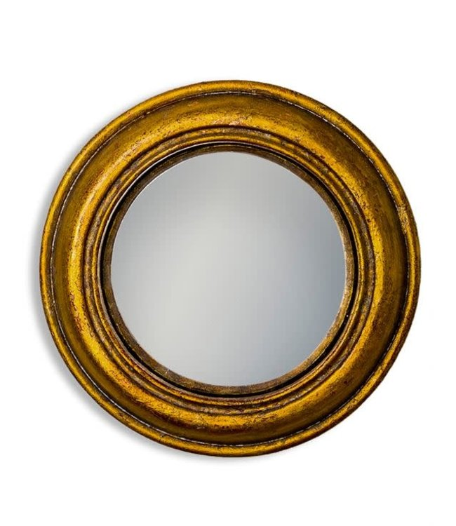 M&R Gold Rounded Small Convex Mirror