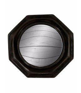 M&R Black Octagonal Framed Convex Mirror