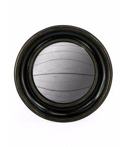 M&R Black Deep Round Convex Mirror