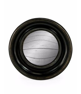 M&R Black Rounded Convex Mirror Small