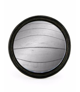 M&R Black Thin Framed Convex Mirror Large 21