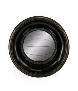 M&R Deep Black Framed Convex Mirror 19