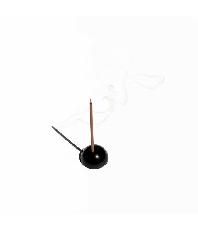 Ume Dome Incense Holder - Metallic Black