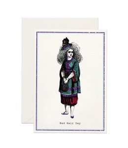 Bad Hair Day Glitter Card
