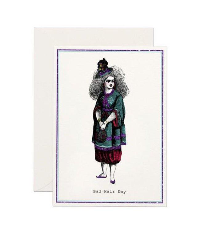 Bad Hair Day Glitter Card