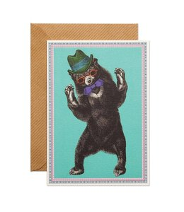 Party Bear Greeting Card