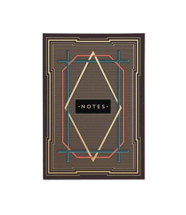 Art Deco (Stripes) Notebook