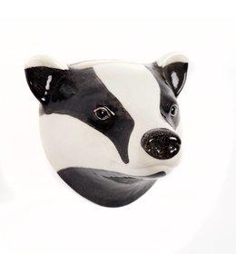 Quail Badger Wall Vase