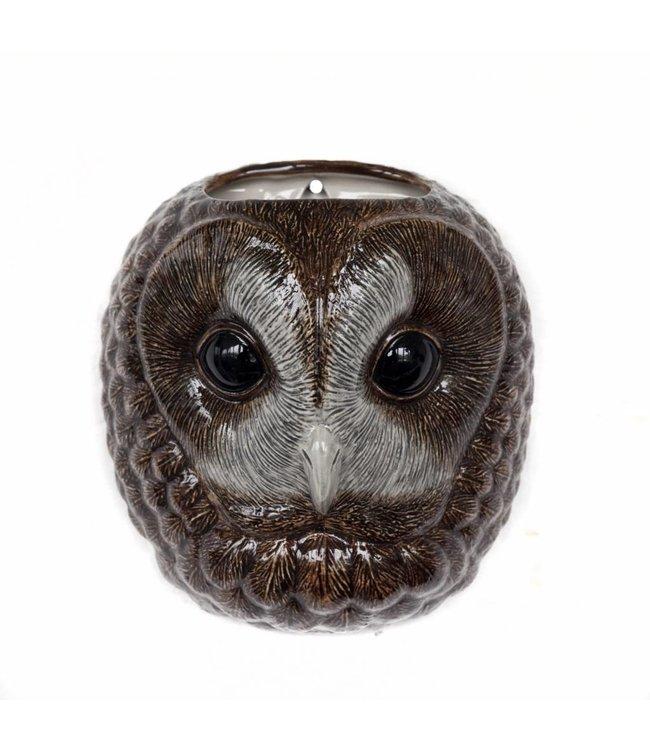 Quail Tawny Owl wall vase