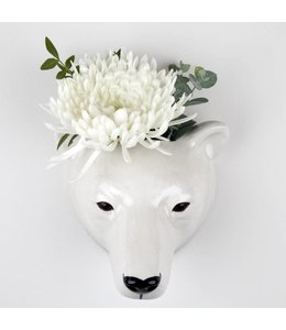 Quail Polar Bear Wall Vase