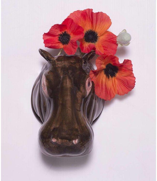 Quail Hippo Wall Vase