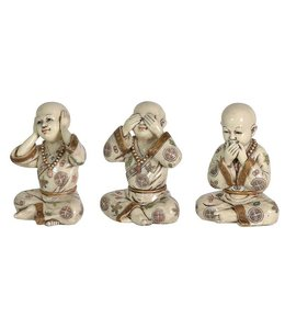 Set of 3 Buddha Boys