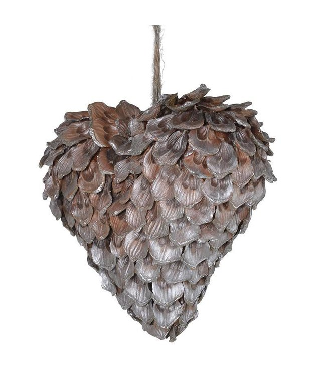 Pinecone Hanging Heart