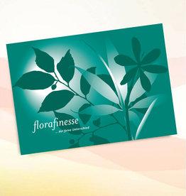 """Grußkarte - Motiv """"florafinesse"""" Grün - z.B. für den Mann"""