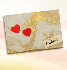 """Grußkarte - Motiv Hochzeit """"Herzen"""""""