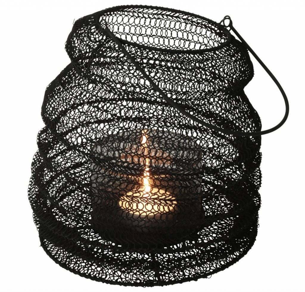 Gusta Gusta Opvouwbaar Windlicht ø23x30cm Zwart