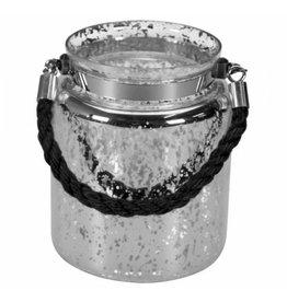 Gusta Gusta Windlicht ø14xH17cm Antique Zilver