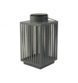 Gusta Gusta Metalen Lantaarn Met LED Grijs