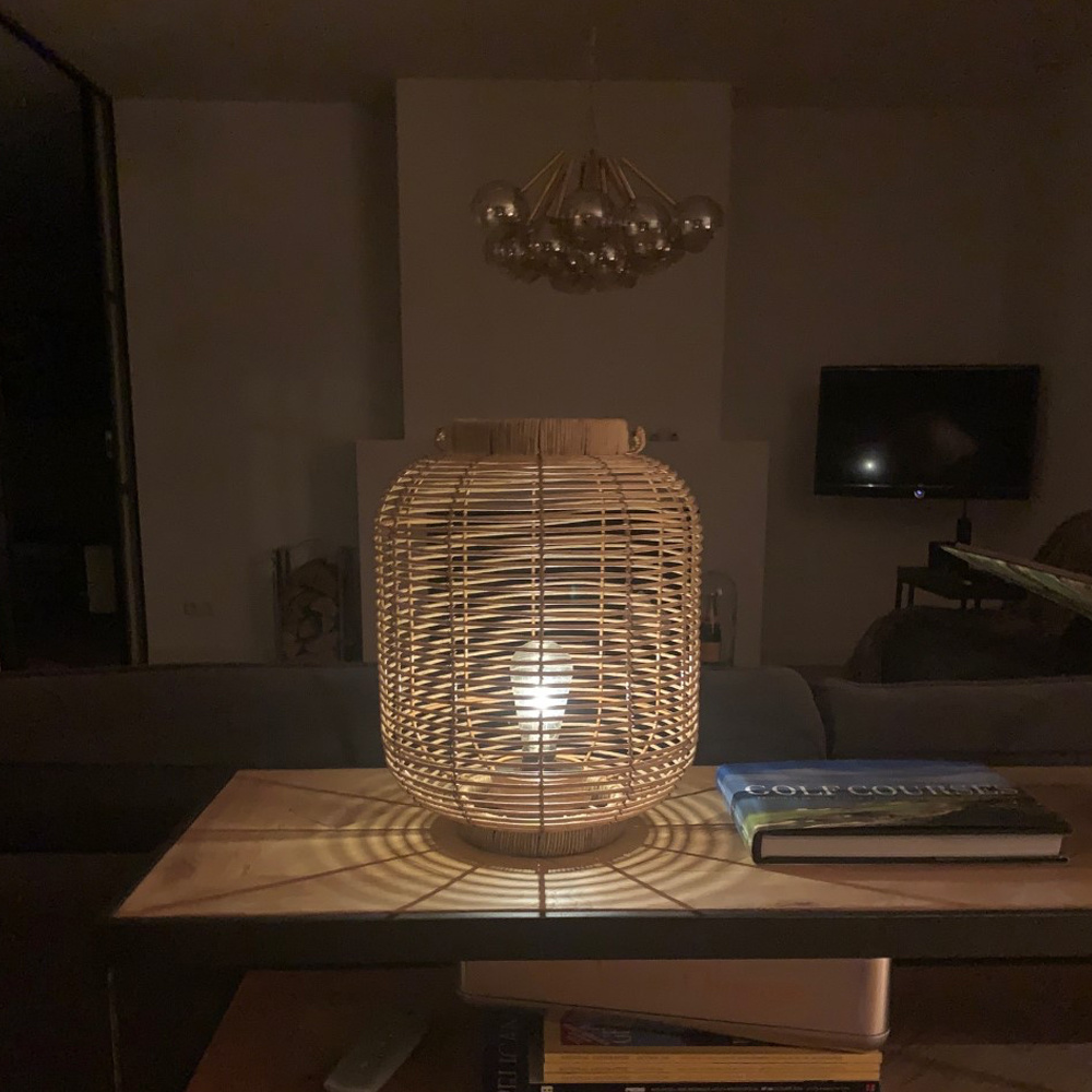 Gusta Gusta Rotan Lantaarn Met LED Ø24cm