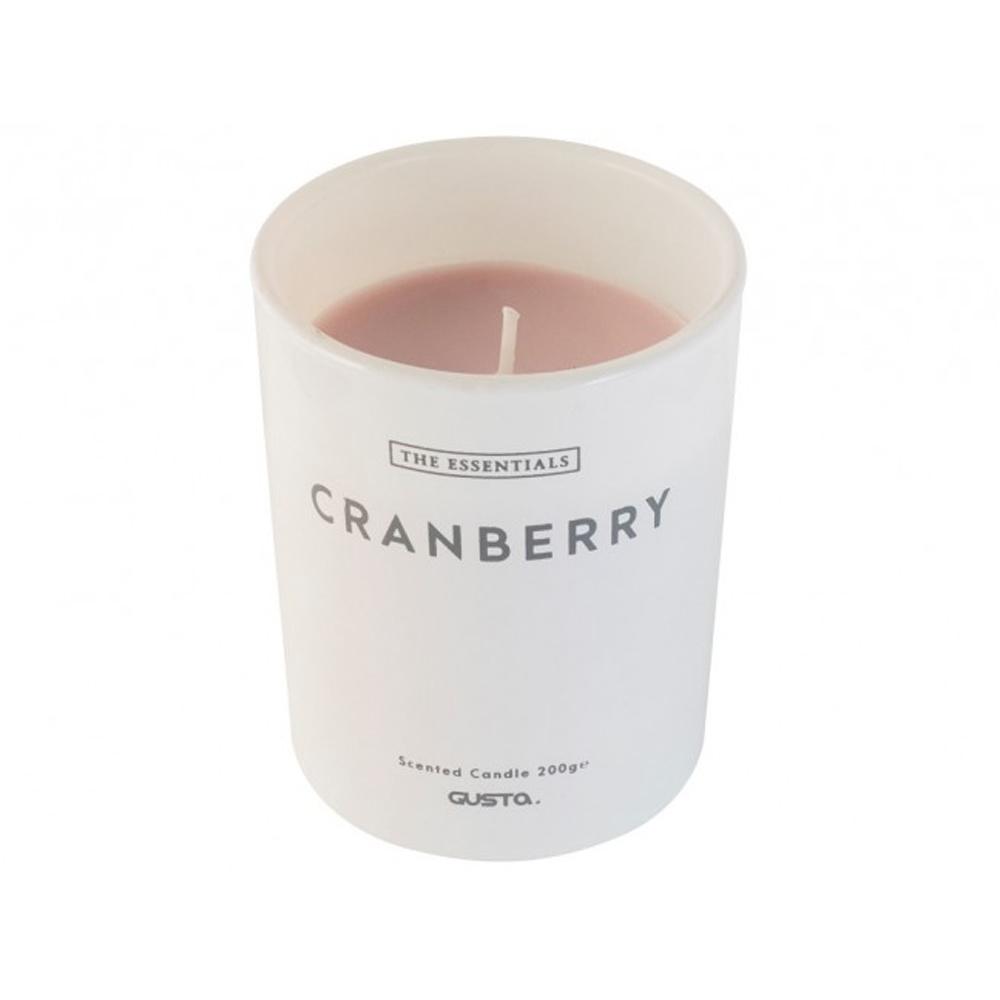 Gusta Gusta Geurkaars ⌀8x10cm Cranberry