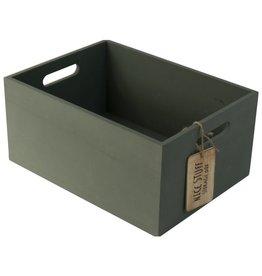 Gusta Gusta Houten kistje l30b22cm Groen