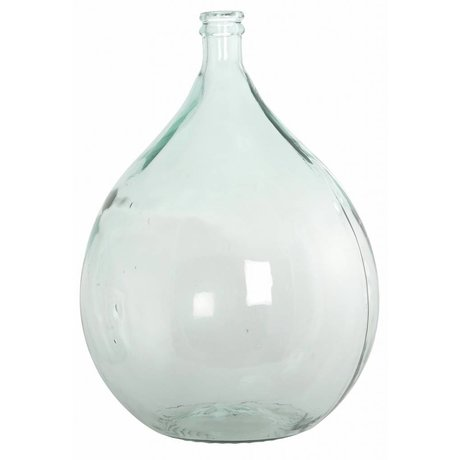 Housedoctor Bottle / vase from 100% recycled glass, Ø40cm h56cm 34 liters