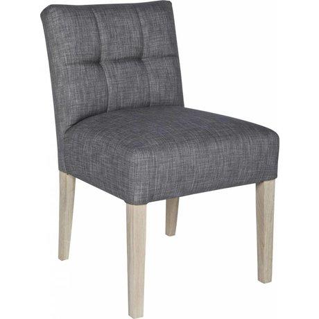 LEF collections Chaise de salle à manger \'Mare\', gris taupe, 83X63X52cm