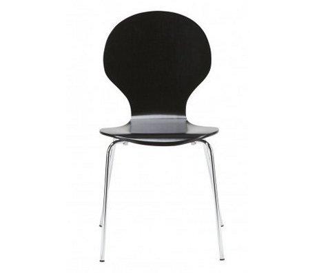 """LEF collections Comedor silla """"Atlanta"""" en el juego de 4, plata / negro, 87x44x47cm"""