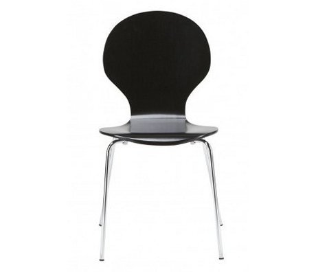 """LEF collections Dining room chair """"Atlanta"""" in the set of 4, silver / black, 87x44x47cm"""