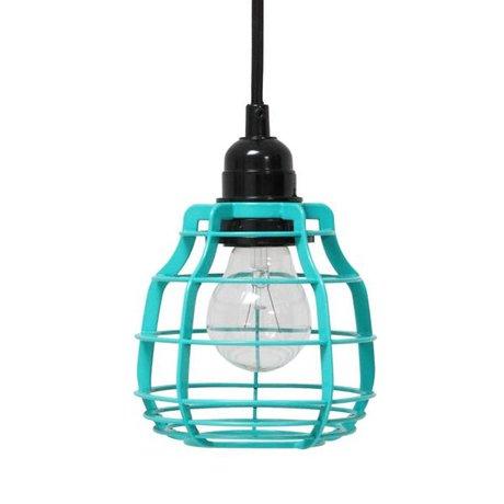 HK-living Hængende lampe LAB med propper af metal, grøn, Ø13x17cm