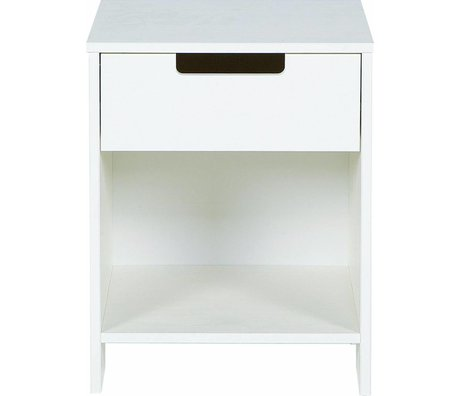 LEF collections Bedside 'Jade' from pine, white, 52x40x33cm