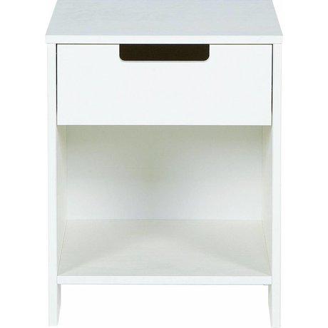 LEF collections De noche 'Jade' de pino, blanco, 52x40x33cm