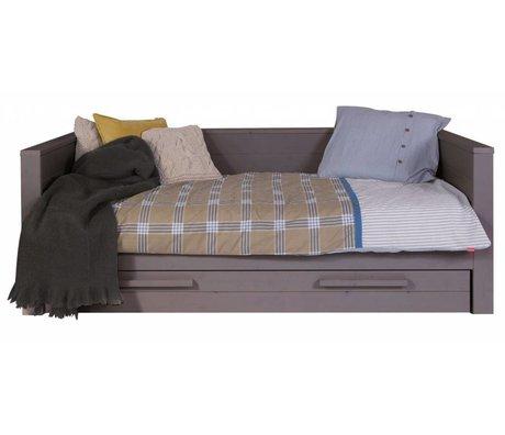 LEF collections Sofa 'Dennis' pino, gris acero, 219x101x73cm