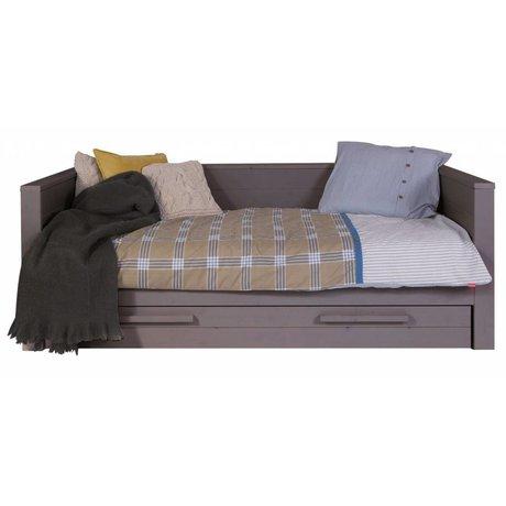 LEF collections Sofa 'Dennis' pino, grigio acciaio, 219x101x73cm