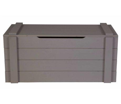 LEF collections Aufbewahrungsbox 'Dennis' aus Kiefer, stahlgrau, 42x90x42cm