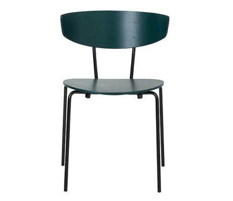 Ferm Living Dining chair Herman dark green metal 50x74x47cm