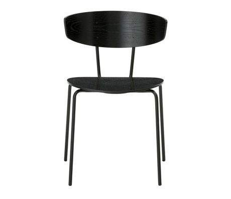 Ferm Living Dining chair Herman black metal timber 50x74x47cm