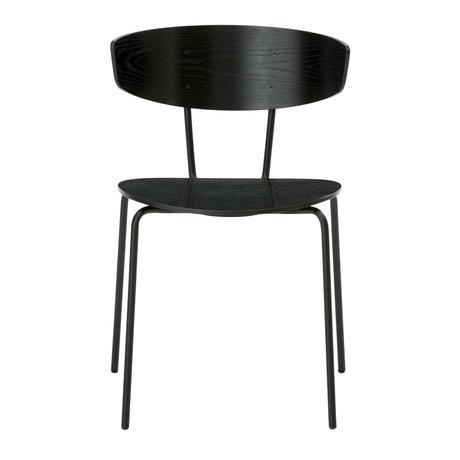Ferm Living Salle à manger chaise Herman métal noir 50x74x47cm bois